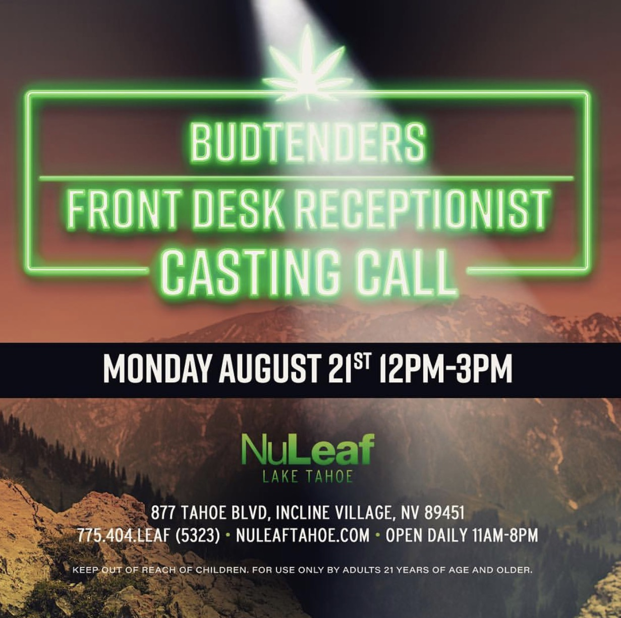 budtender casting call